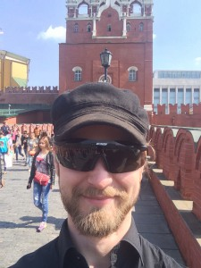 Selfie in font of one of the towers leading into the Kremlin